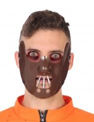 Kannibal halvmaske brun til voksne