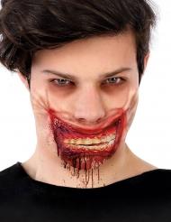 Zombie blodig kæbe falskt ar 24 x 10 cm