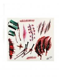 Falske tatoveringer sår og kradsmærker