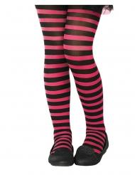Strømpebukser lyserød og sort til børn