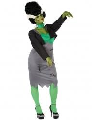 Grøn monster kostume til kvinder stor