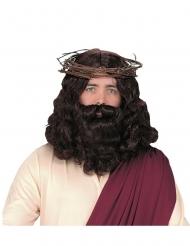 Luksus jesus paryk og skæg - voksen