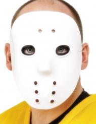 Hokey maske hvid til voksne