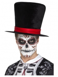Dia de los Muertos Top Hat Velours til voksne