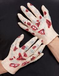 Zombie Hænder i latex til voksne