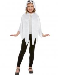 Spøgelse Kappe hvid velours til børn