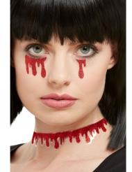 Klistermærke Blod med glimmer til voksne