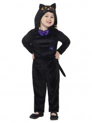 Katte Kostume sort velours til børn