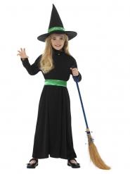Hekse Kostume grøn sløjle til piger