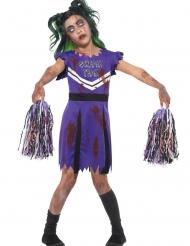 Zombie Kostume Cheerleader lilla til piger