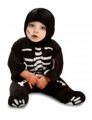 Skelet dragt sort til baby