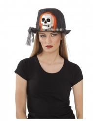 Dødningehoved hat 59 cm til voksne