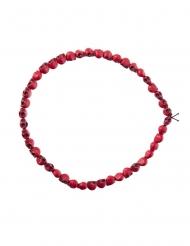 Halskæde dødningehoveder rød 54 cm til voksne