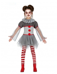Psykopat klovn kostume med leggings - pige