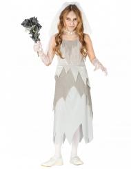 Spøgelse brudekostume grå til piger