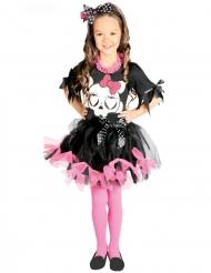 Tylskørt Kostume lyserød med skelet til piger