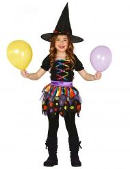 Farverig hekse kostume til piger