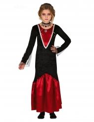 Vampyr Kostume sort og rød til piger