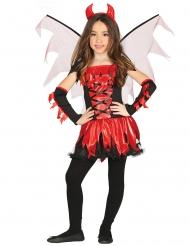 Djævel Kostume med vinger til piger