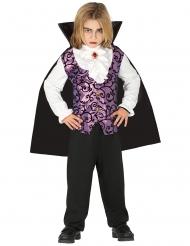 Vampyr Kostume lilla og sort til drenge