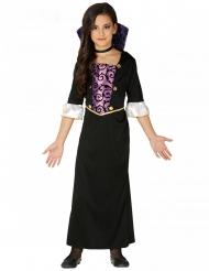Vampyr Kostume lilla og sort til piger