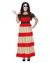 Dia de los Muertos kostume med slør til kvinder
