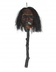 Stav med spiddet hovedet med lys 53 cm