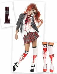 Kostume Kit Zombie Skolepige til kvinder