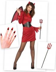 Kostume Kit Djævel til kvinder