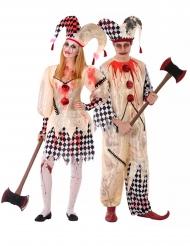 Kostume Par Blodig Harlekin til teenager
