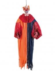 Skræmmende klovn farverig deko165 cm