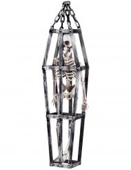 Skelet i bur ophæng deko 50 cm