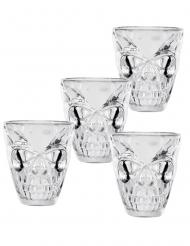 Dødningehoved shotglas 50 ml 4 stk