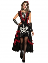 Dia de los Muertos kostume med skørt til kvinder