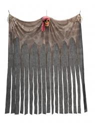Gardin med piratdødningehoved 200 x 150 cm