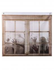 Gardin vindue med zombie 75 x 90 cm