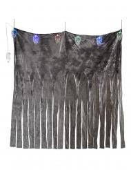 Gardin med 5 lysende kranier 185 x 140 cm
