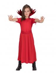 Djævel kostume rød til piger