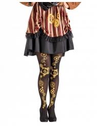 Steampunk strømpebukser sort til kvinder