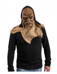 Latex maske med hætte monster til voksne