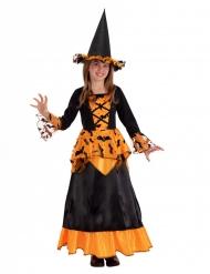 Heksekostume flagermus og sort hat til piger