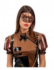 Steampunk maske kobber til voksne
