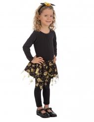Sort og guld Halloween tylskørt til piger