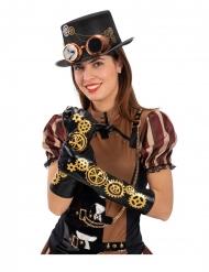 Steampunk handsker tandhjul 56cm til voksne