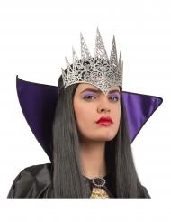 Dronning sølv diadem med glimmer til voksne