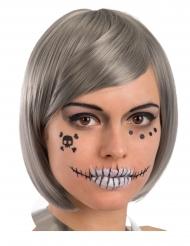 Skelet klistremærker til ansigt til voksne