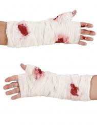 Blodige bandage til arm