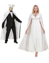 velours kappe hvid 150 cm