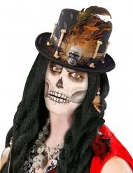 Voodoo tophat med knogler til voksne