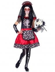 Dia de los Muertos sort og rød til børn